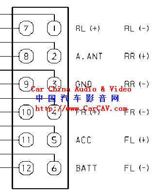 爱华CT X429M接线图 音响维修 汽车影音网论坛 汽车音响改装升级 汽高清图片
