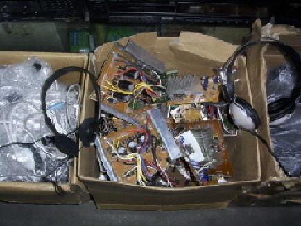 家用低音炮功放板,可改用电瓶,拆掉低通滤波后可当功放.批