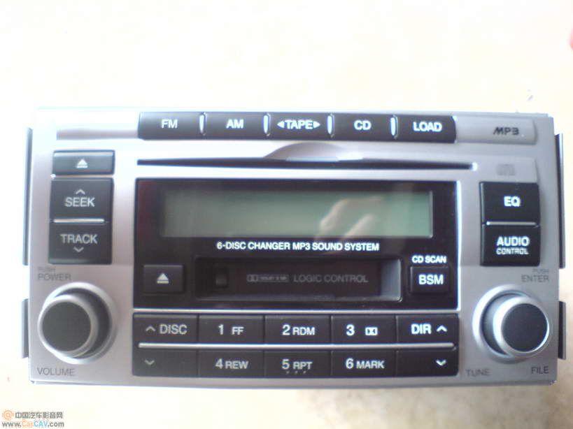 现代新圣达菲之咖菲狮方向盘音响控制改装 高清图片