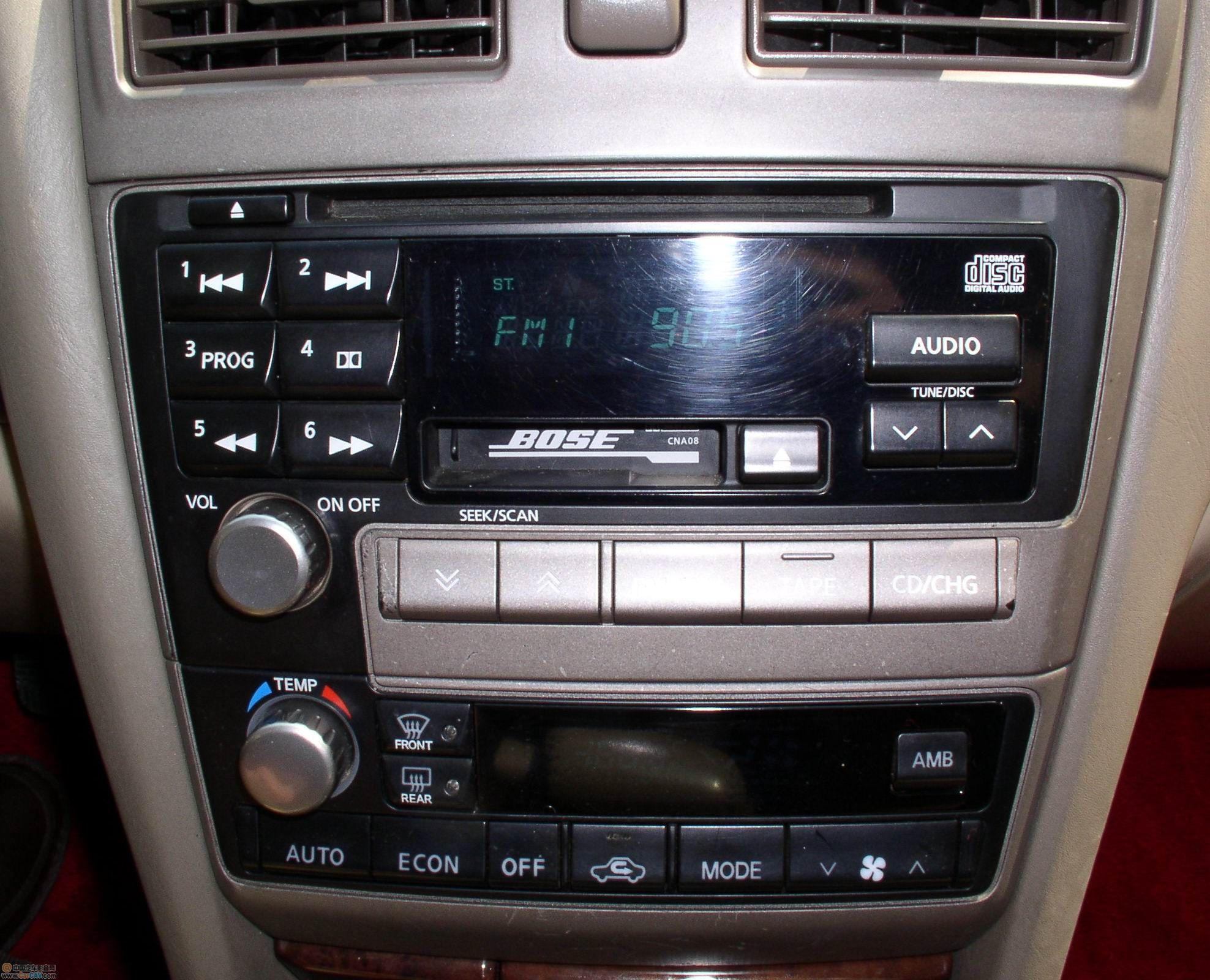 美版尼桑风度a33音响改装框高清图片
