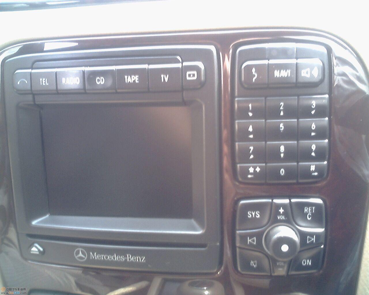 2001年欧版奔驰S320怎样加DVD导航 汽车影音网论坛 汽车...