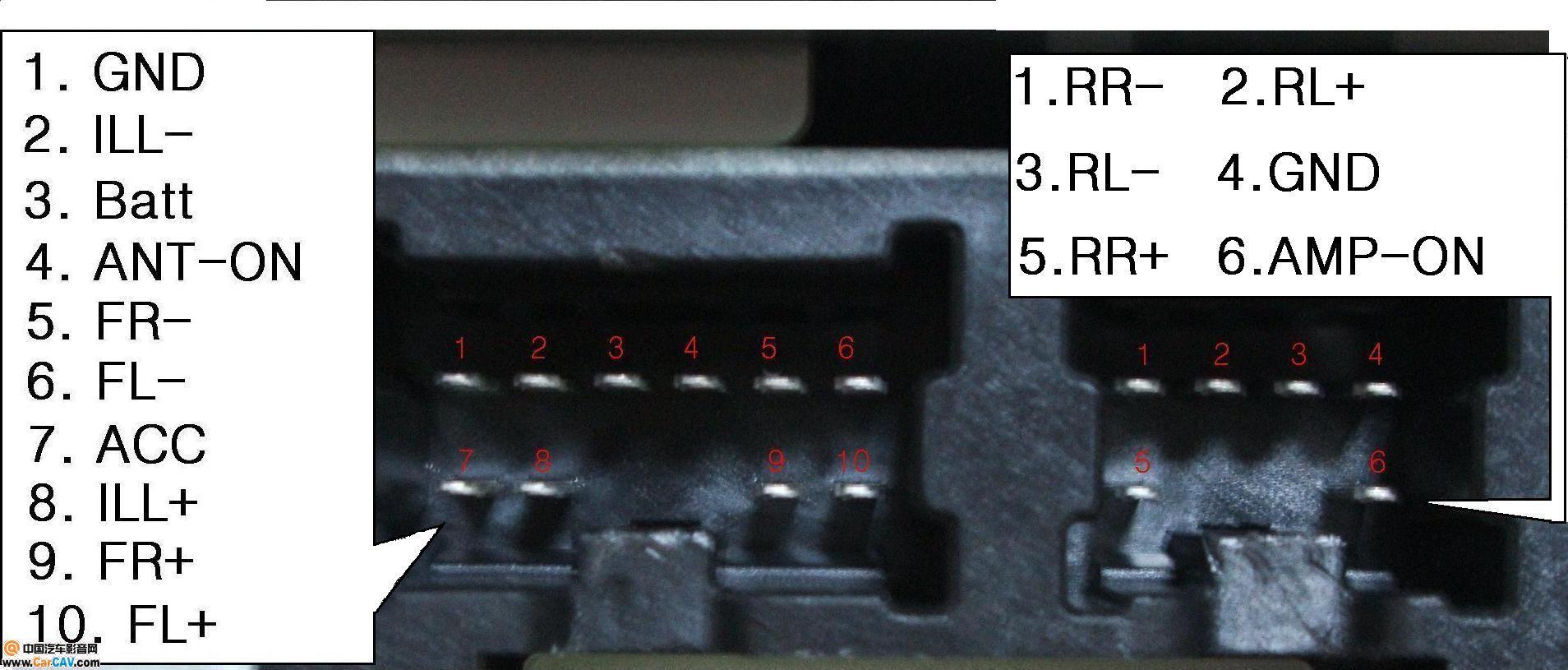 原创 日产风度原装机Bose接口定义 低电平输出 音响维修 汽车影音网高清图片