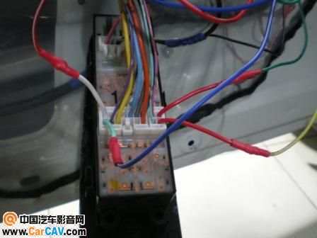 08骐达安装自动升窗器接线图 安全防盗 汽车影音网论坛 汽车音响改装高清图片