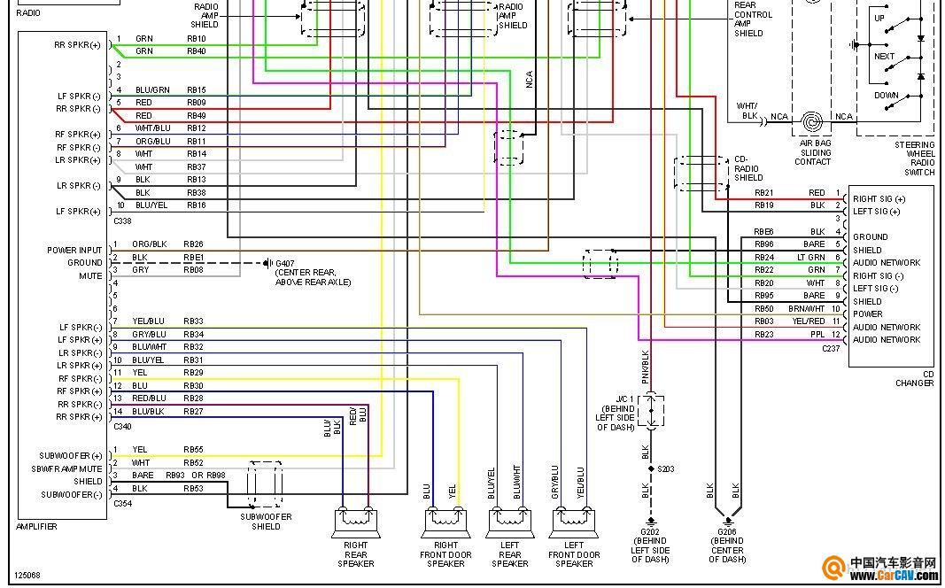 谁能看懂这个图纸该怎么接 音响维修 汽车影音网论坛 汽车音响改装升高清图片