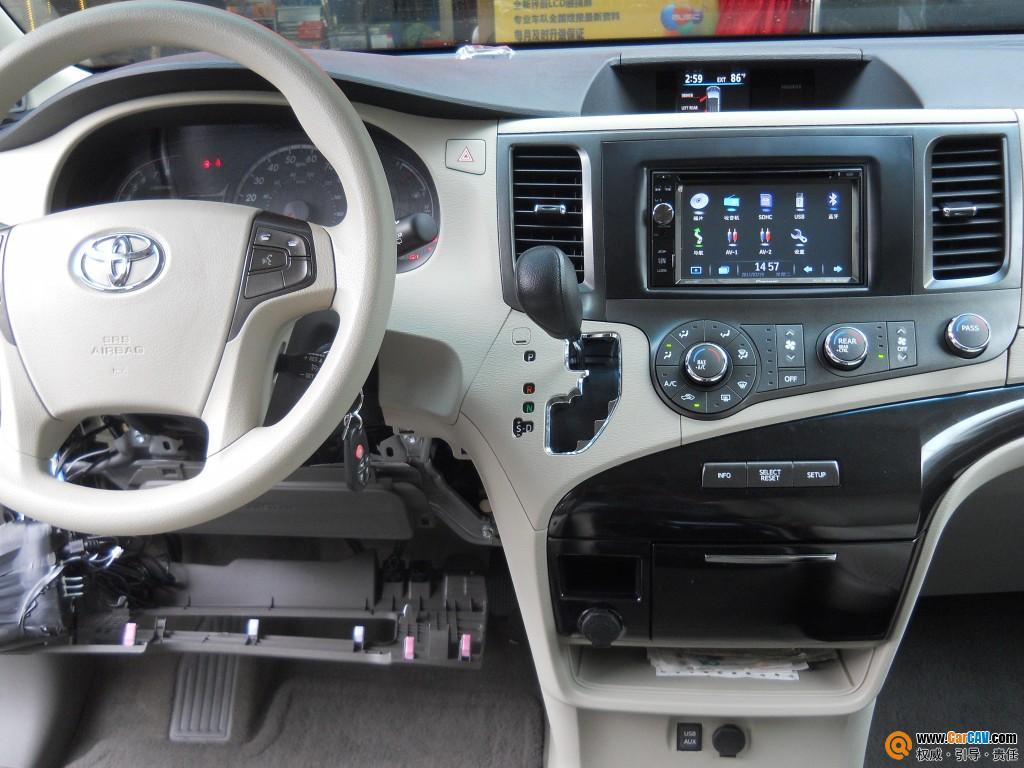 新款丰田赛纳装先锋DVD导航 汽车影音网论坛 汽车音响改装升级 汽车