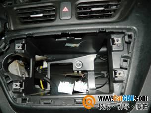 起亚k2汽车音响改装升级纽曼影音导航系统安装作业高清图片