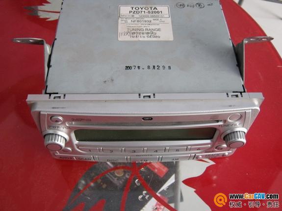 丰田威驰原车CD机 银色面板高清图片
