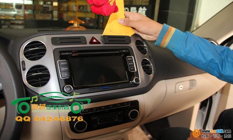 兰州卓越汽车音响——大众途观汽车音响改装升级杰成DVD导航-汽车高清图片