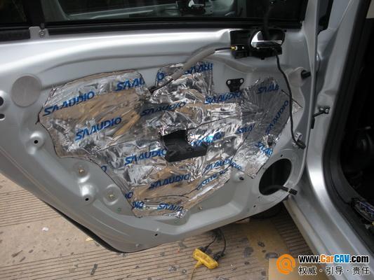 广州汽车音响改装 标致408汽车音响改装升级详细过程分享 最全的改装高清图片