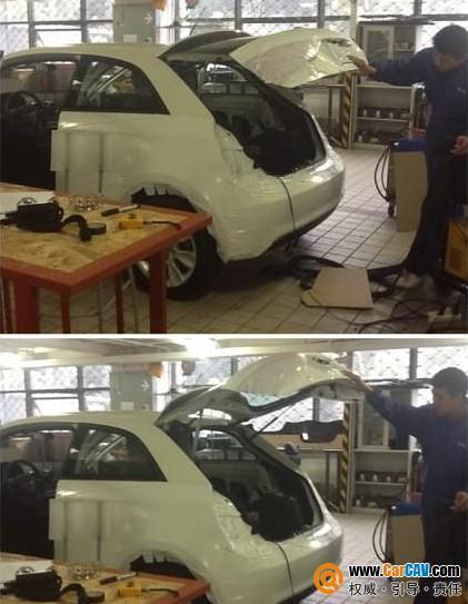 上海车之宝汽车音响 奥迪A1小精灵音响改装路畅高清图片