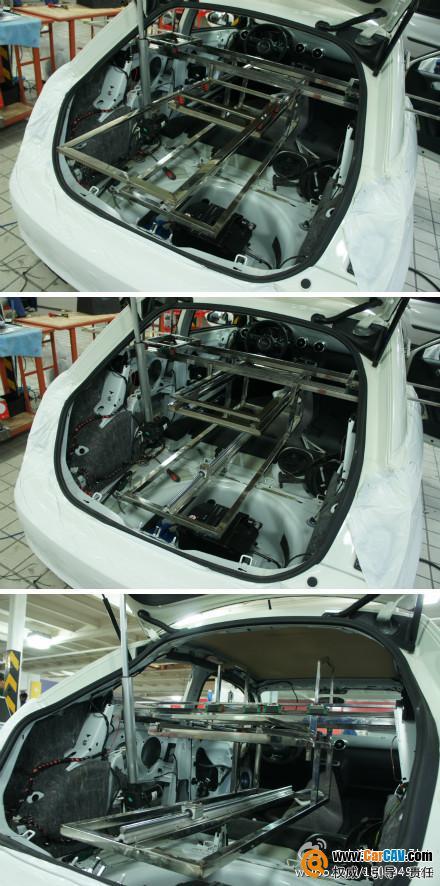 上海车之宝汽车音响 奥迪A1小精灵音响改装路畅 5高清图片