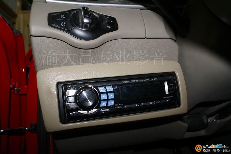 重庆渝大昌汽车音响 奥迪A4L音响改装阿尔派 零点 4高清图片