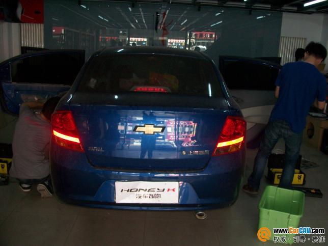 雪弗兰新赛欧音响升级 北京honeyk汽车音响改装案例 升级高清图片