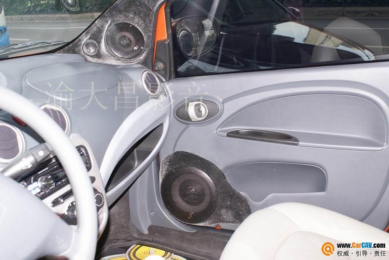 重庆渝大昌汽车音响 长安奔奔音响改装升级德国零点三分频 6高清图片