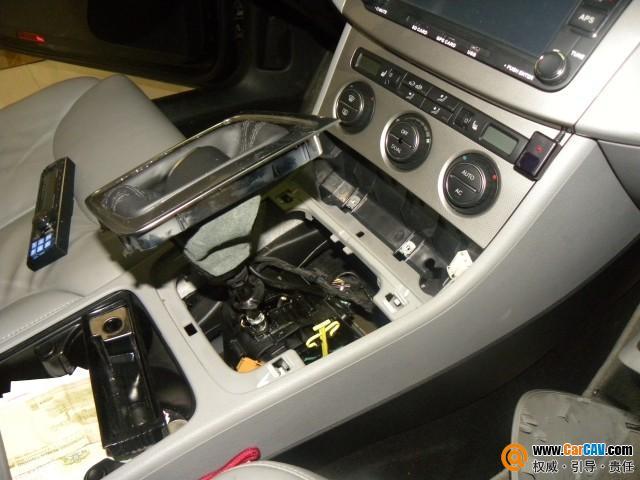战神汽车音响 大众迈腾主机倒模加装阿尔派CD机高清图片