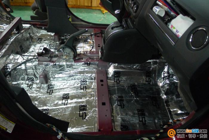 厦门靓之声专业汽车音响.内饰改装 2012款jeep指南者全车隔高清图片