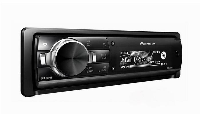 Pioneer先锋DEH-80PRS单碟CD主机内置功放直接玩主动分频