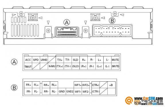 求教各位高手丰田4700功放接线定义 音响维修 汽车影音网