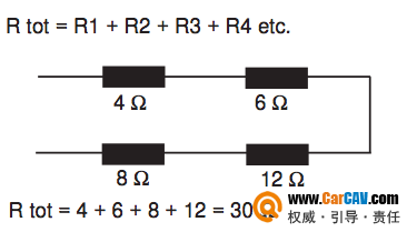 汽车音响改装中双音圈的喇叭串联和并联如何接线?