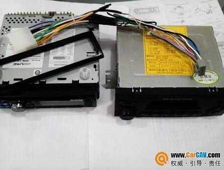 五菱荣光汽车加装CD机不破坏主机线路高清图片