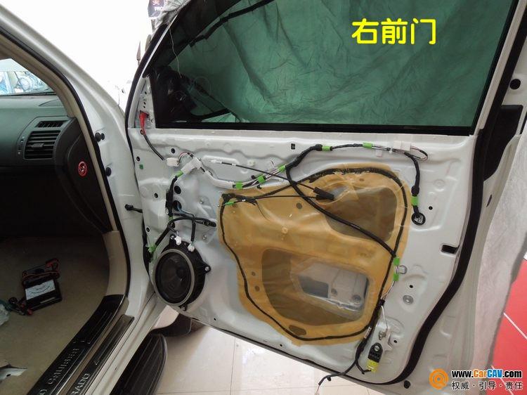 武汉汽车音响改装 丰田普拉多音响改装彩虹好声三分频高清图片