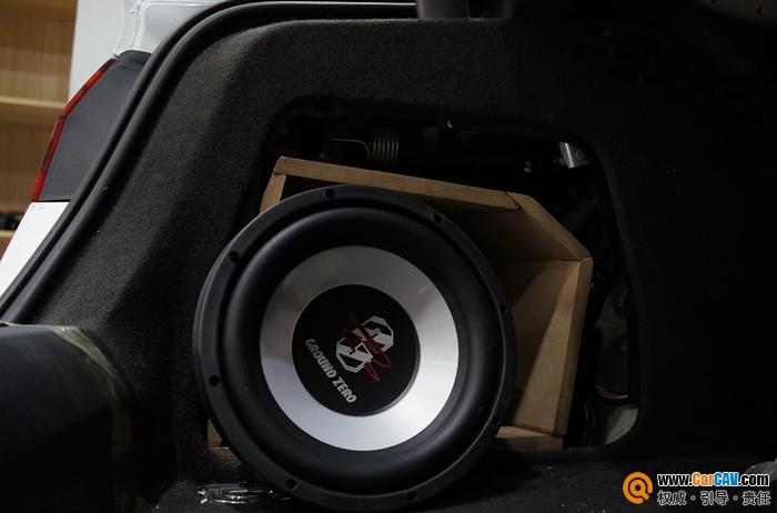 重庆渝大昌奥迪A4汽车音响改装DLS音响发挥极致高清图片
