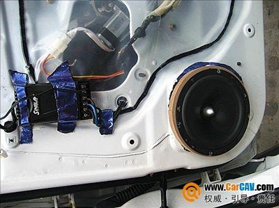 西安英皇海马丘比特汽车音响改装阿尔派提升音乐质量高清图片