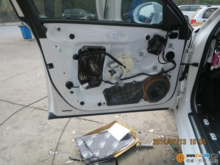 体验 成都锐驰奥迪A6汽车音响改装雷贝琴高清图片
