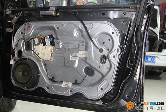 福特福克斯汽车隔音加音响改装案例 佛山顺德道声汽车音响