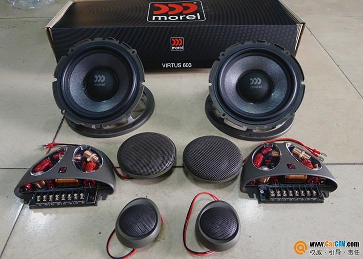 【眉山惠升】宝马X1升级摩雷优特声三分频 - 香港佳能仕公司 - 汽车音响