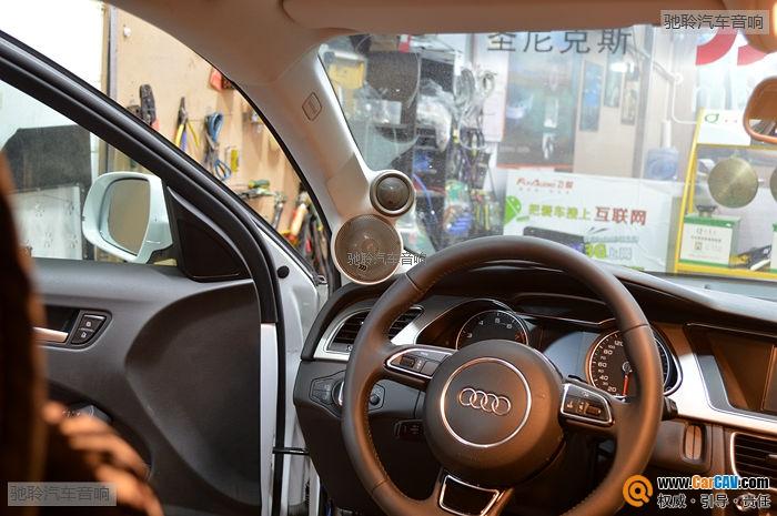【深圳驰聆】奥迪A4L改摩雷意蕾三分频 - 香港佳能仕公司 - 汽车音响