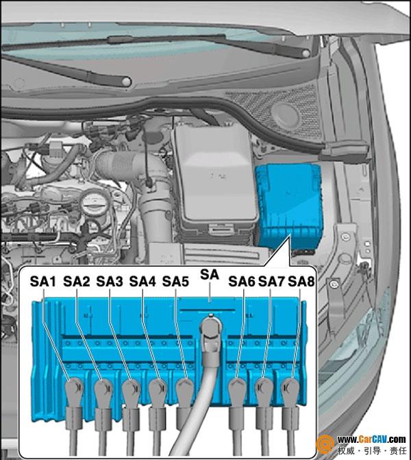 奥迪Q3保险丝功能定义及安装清单 音响维修 汽车影音网论坛 汽车音响高清图片