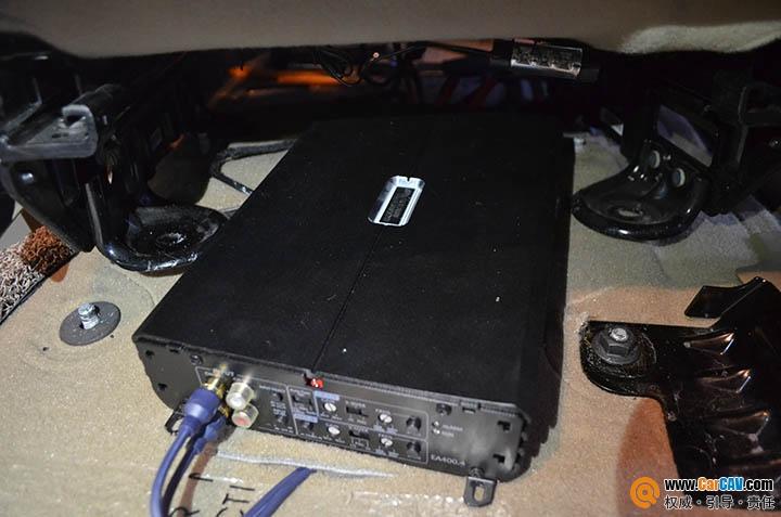 上海音航汽车音响改装 别克GL8换装摩雷听宝 功放低音高清图片