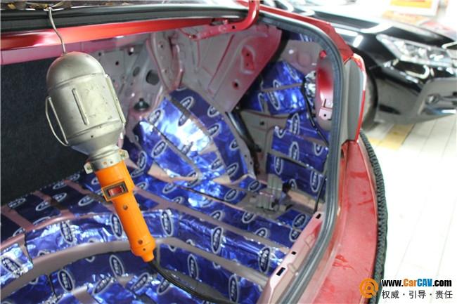 广州车元素汽车音响改装之丰田雷凌汽车音响改装加全车大能隔音高清图片
