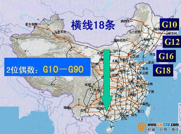 GPS地图知识 有趣的中国高速公路编号