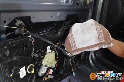张家口汽车音响改装 高尔夫6升级霸克RX650 张家口极致音改 汽车影高清图片