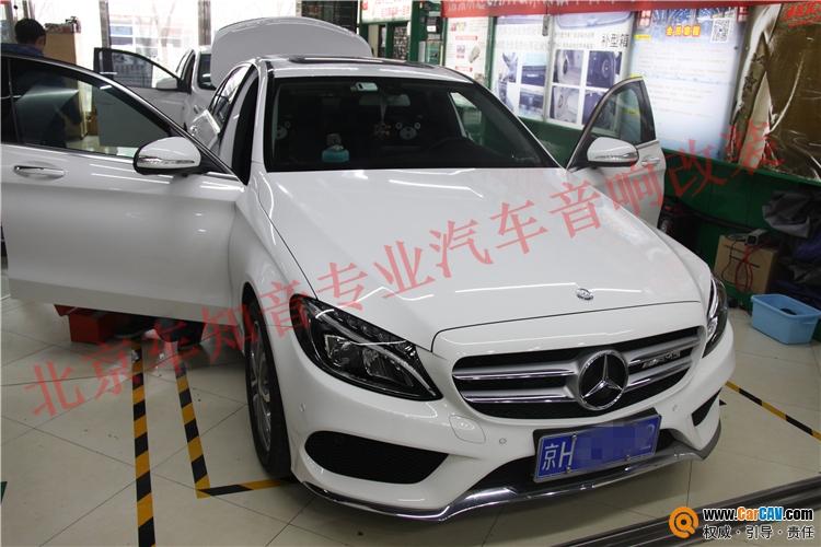 纯正音质 北京奔驰C级汽车音响改装彩虹