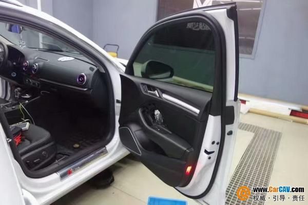【奥迪A3 】中国汽车音响改装十大名店 优美声DA460处理器+前后雷高清图片