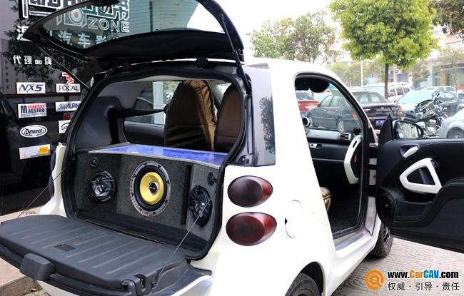 奔驰SMART汽车音响改装工艺倒模造型 倒模尾箱工艺