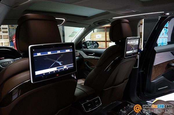 奥迪A8汽车后座头枕高清触摸显示屏娱乐系统