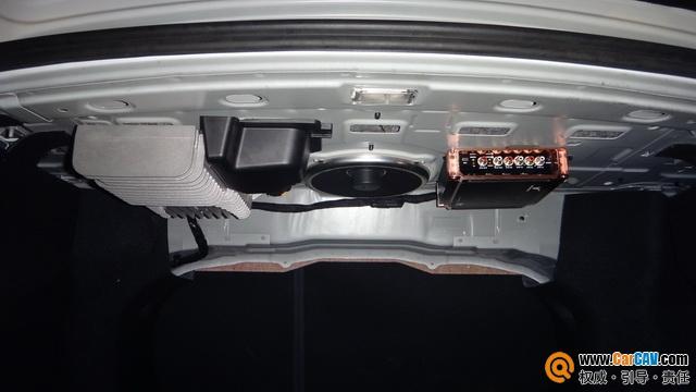 泉州车乐汇雷诺纬度汽车音响改装MBQ备胎低音 节省