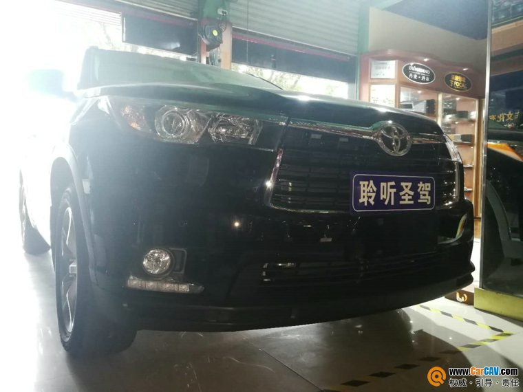 深圳聆听圣驾新款汉兰达汽车音响改装卡顿 享受音
