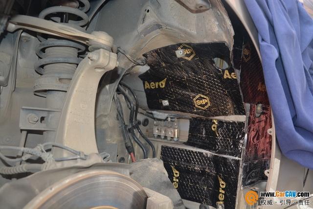 苏州广东仔宝马530前底盘和叶子板隔音改装STP