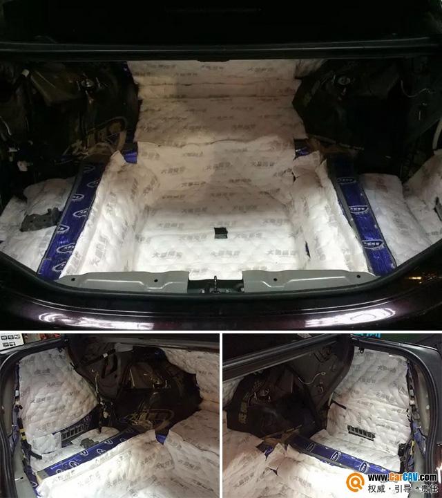 佛山劲力丰田皇冠全车改装大能隔音 标准化施工案例