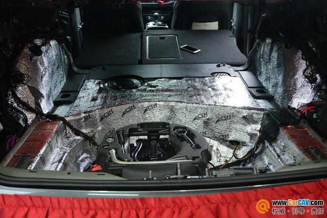 苏州广东仔奥迪S6后备箱隔音改装STP  降低路噪胎噪