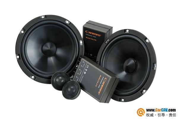 有态度的汽车音响体验 卡顿CA-216两分频套装