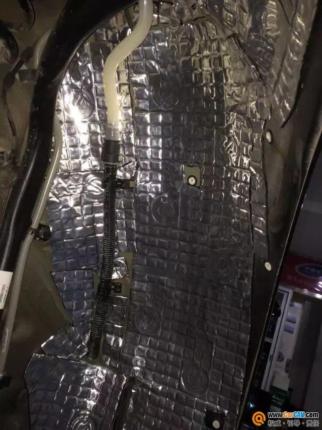 南宁途悦宝马525Li汽车隔音改装赛伦科特 叶子板隔音案例