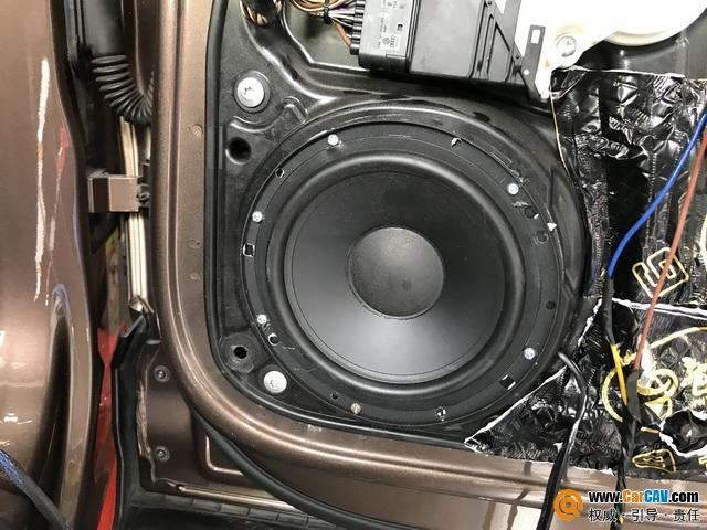 余音缭绕 东莞9音坊大众途观汽车音响改装摩雷