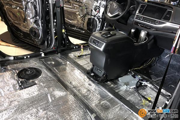 汉兰达改装如此大尺度 拆车全车隔音升级赛伦科特S