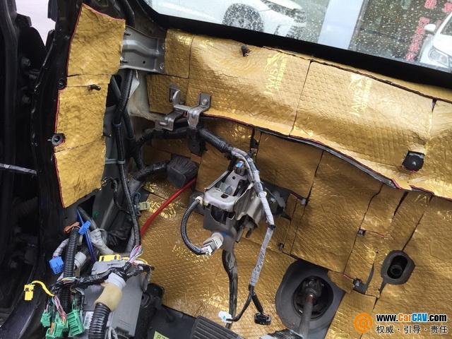 新疆声科本田CRV汽车隔音改装大白鲨 还你安静旅程